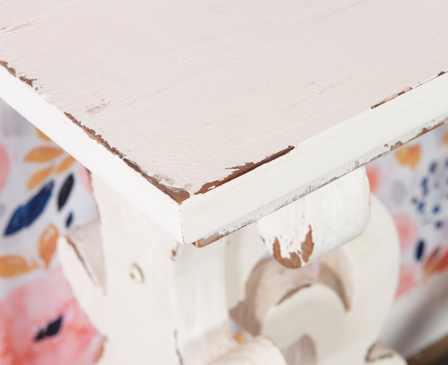 Powell Renck Console Table - Distressed White