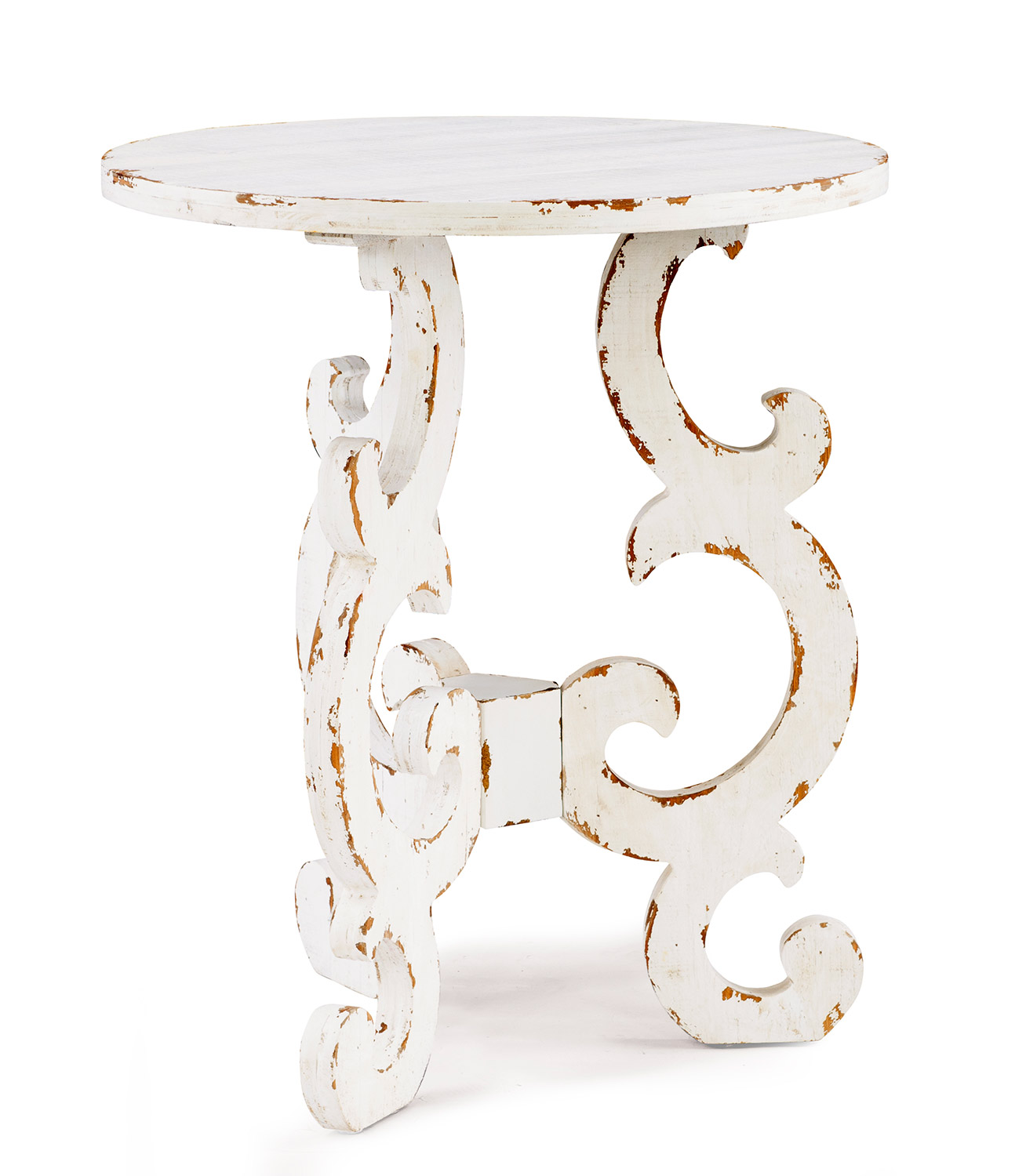 Powell Renck End Table - Distressed White