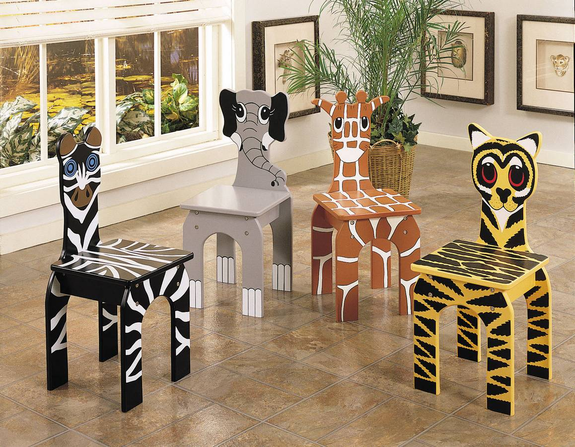 Cheap Powell Set of 4 Animal Chairs