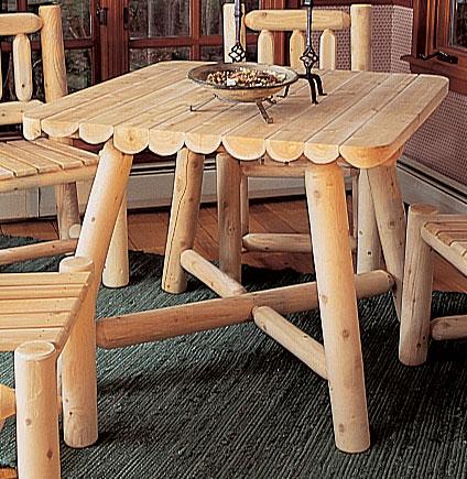 Rustic Cedar Cedar Looks Square Dining Table Set