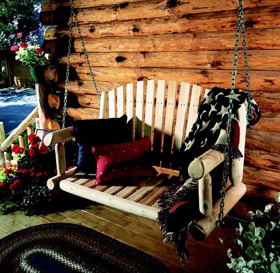 Cheap Rustic Cedar Cedar Looks Porch Swing Seat