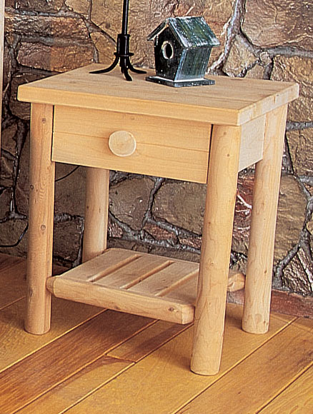 Rustic Cedar Cedar Looks Night Stand with Drawer