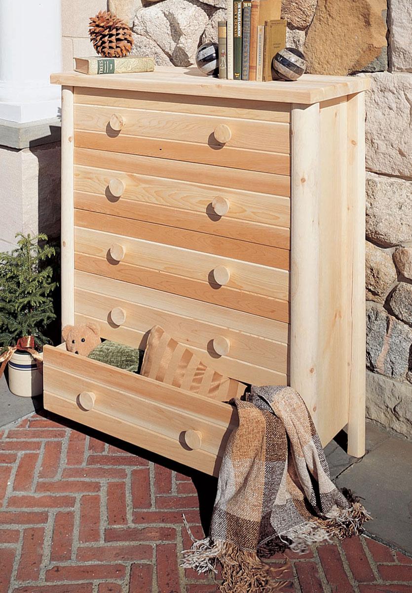 Rustic Cedar Cedar Looks Five Drawer Dresser
