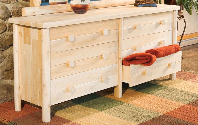 Rustic Cedar Cedar Looks Six Drawer Dresser