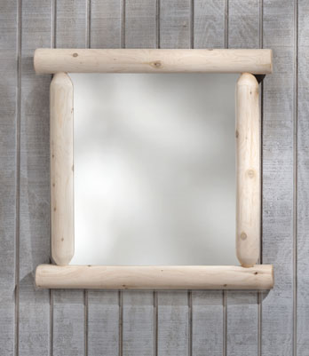 Rustic Cedar Cedar Looks Log Mirror