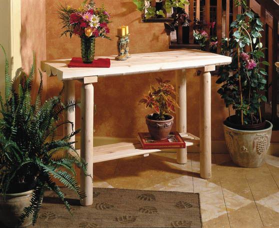 Rustic Cedar Cedar Looks Sofa Table