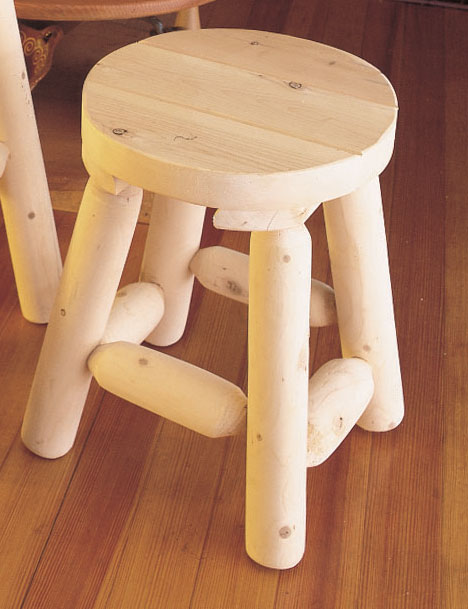Cedar Looks Bar Stool - 18in - Rustic Cedar