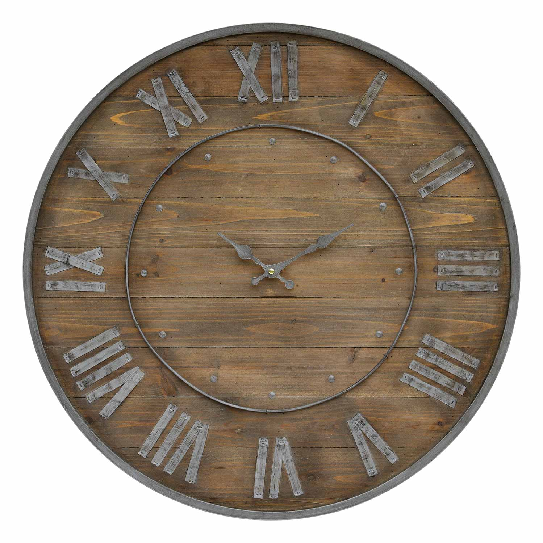 Ren-Wil Teatime Clock - Natural wood/Grey