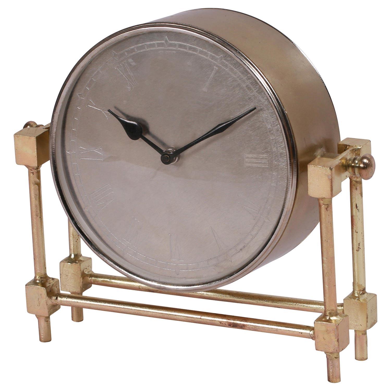 Ren-Wil Rockwood Clock - Brass Plated