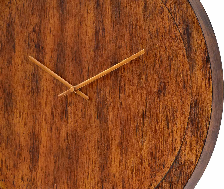 Ren-Wil Brice Wall Clock - Handpainted Walnut/Antique Brass