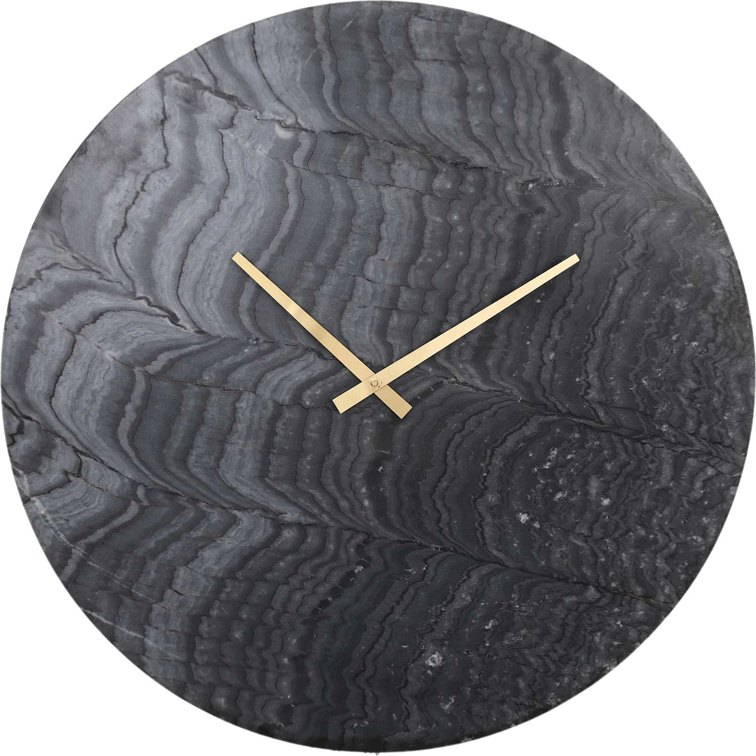 Ren-Wil Devlin Wall Clock - Graymarble/Antique Brass