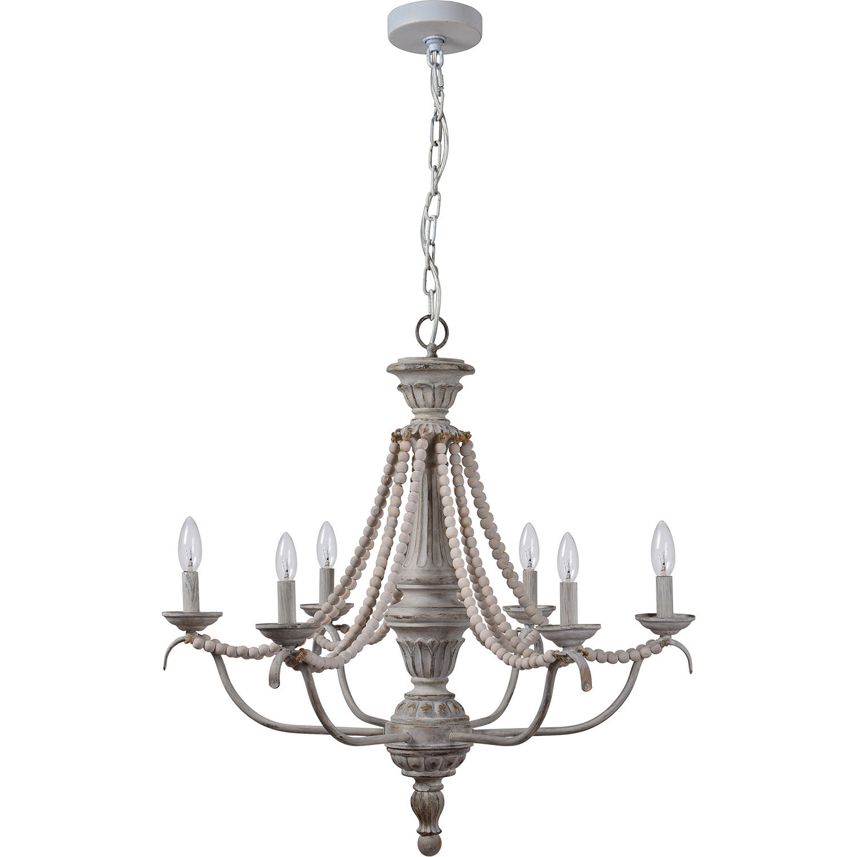 Ren-Wil Malcomb Ceiling Fixture - Grey Wash/Light Gray Beads