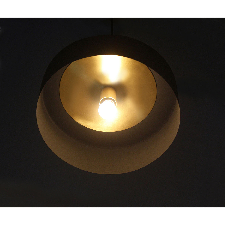 Ren-Wil Moriah Ceiling Fixture - Black Powder Coated/Matte Brass