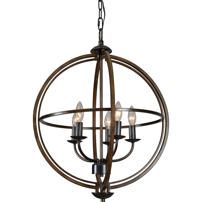 Ren-Wil Sajo Ceiling Fixture - Oil Rubbed Bronze/Wood