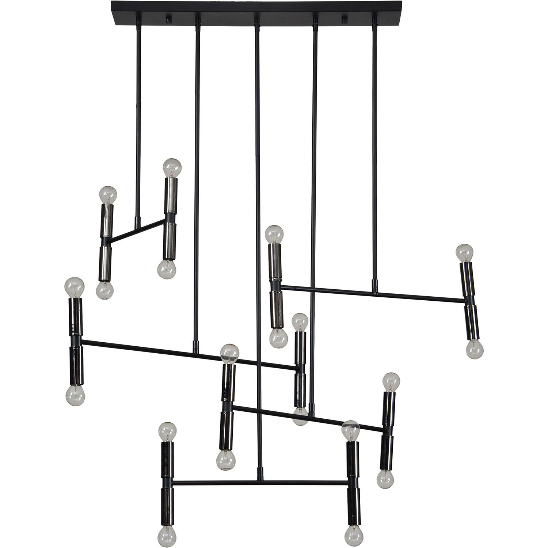 Ren-Wil Springdale Ceiling Fixture - Matte Black/Nickel