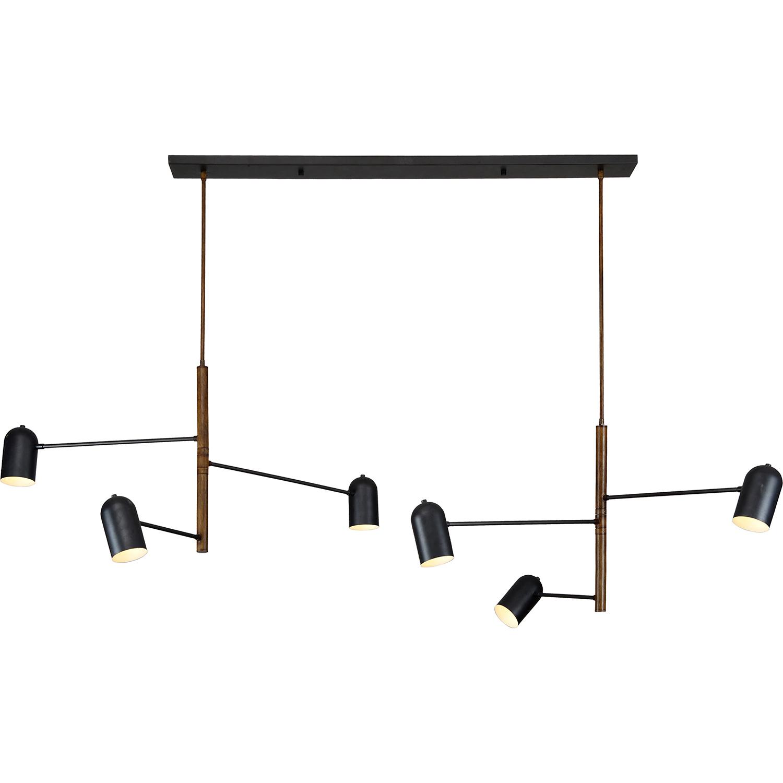 Ren-Wil Roosevelt Ceiling Fixture - Matte Black/Rustic Wood