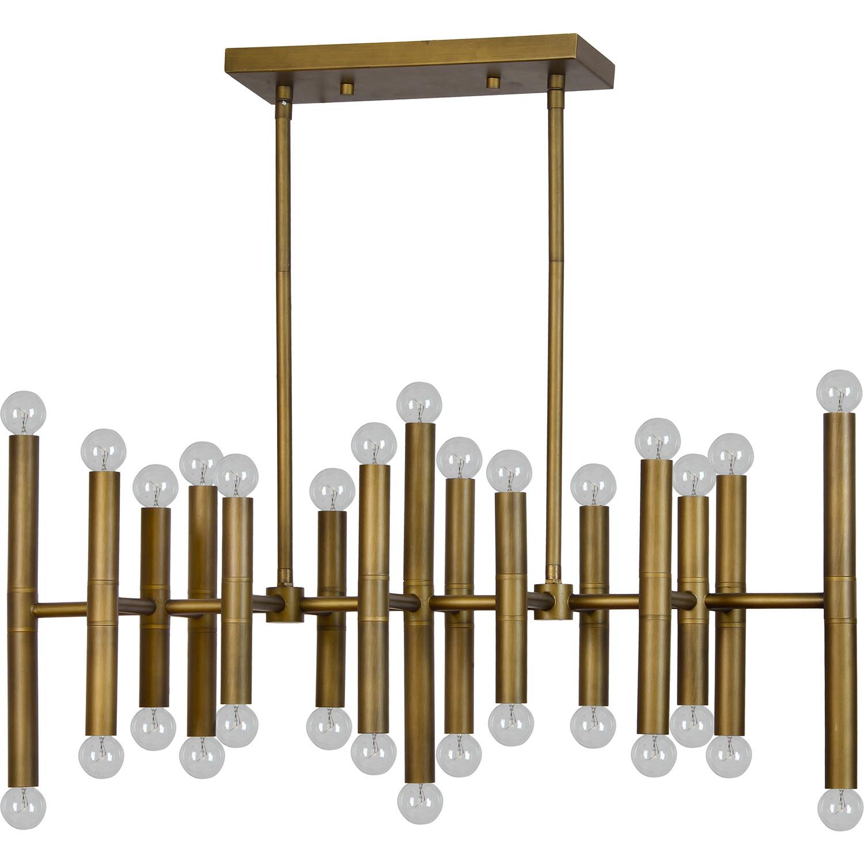 Ren-Wil Shad Ceiling Fixture - Antique Brass