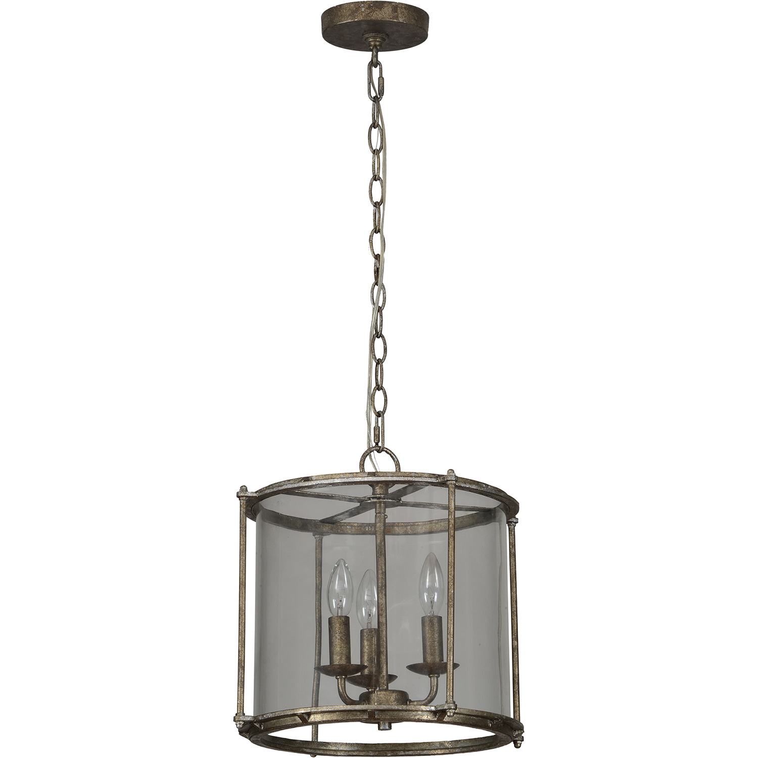 Ren-Wil Browning Ceiling Fixture - Rustic Silver/Clear