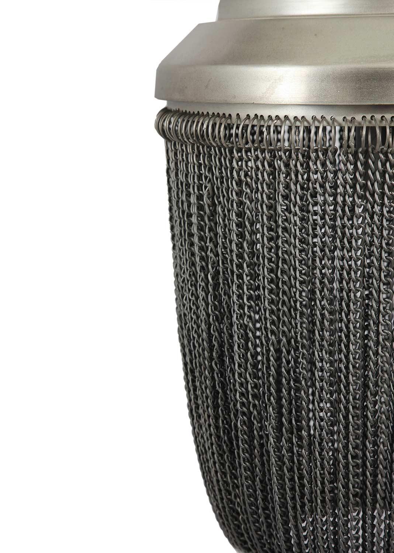 Ren-Wil Irvon Ceiling Fixture - Natural Zinc/Black
