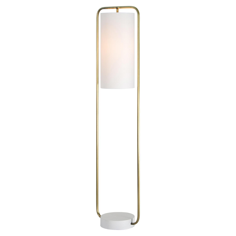 Ren-Wil Simpson Floor Lamp - Antique Brass/Matte Cream