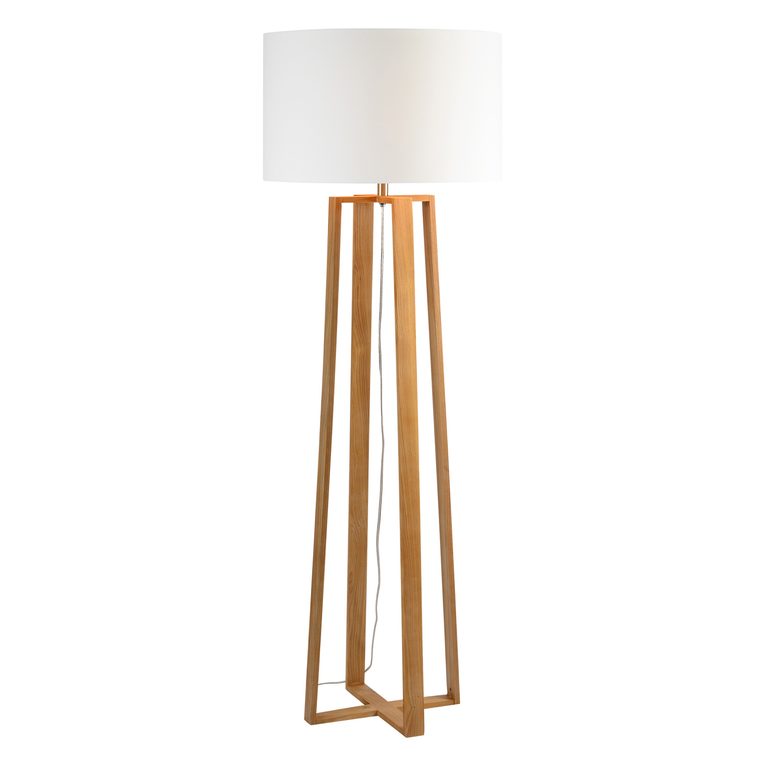 Ren-Wil Cranston Floor Lamp - Natural Wood Color