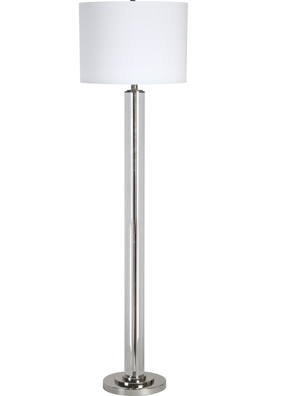 Ren-Wil Beacon Floor Lamp - Clear/Chrome