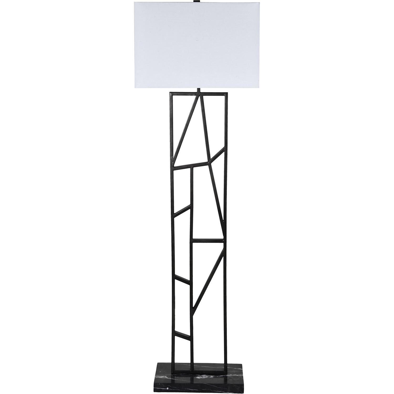 Ren-Wil Quin Floor Lamp - Graphite Grey