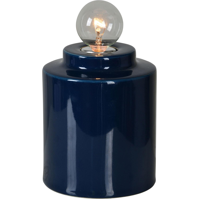 Ren-Wil Cork Table Lamp - Dark Blue
