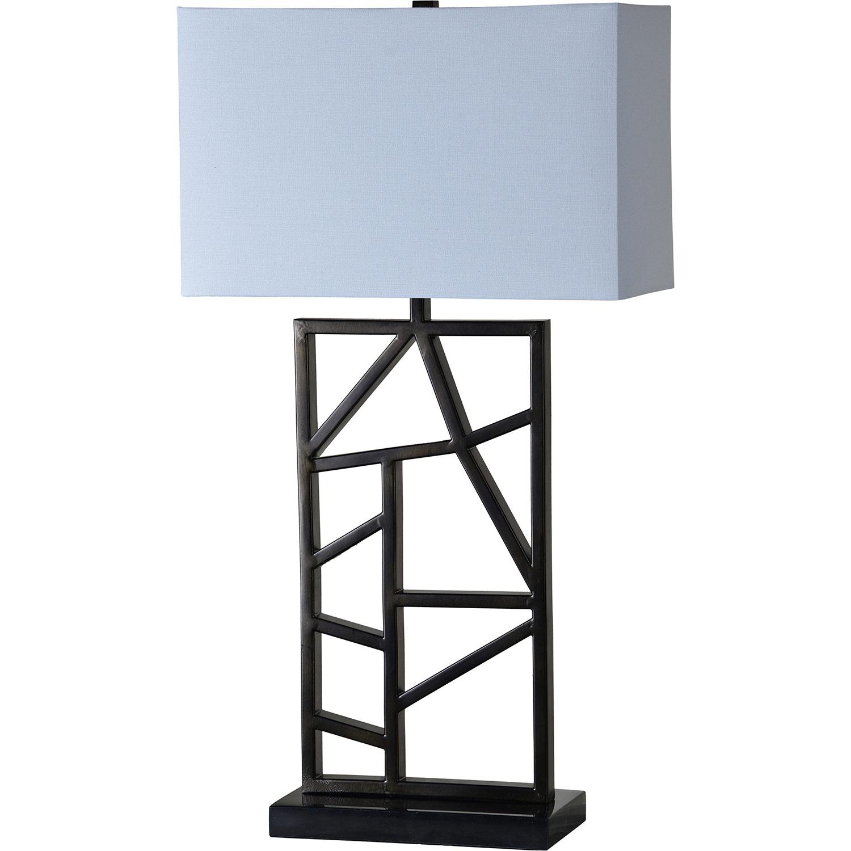 Ren-Wil Kingswood Table Lamp - Black Marble