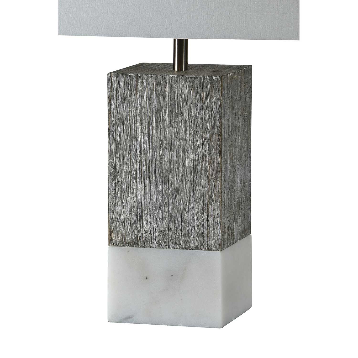 Ren-Wil Val Table Lamp - White Marble/White Wash