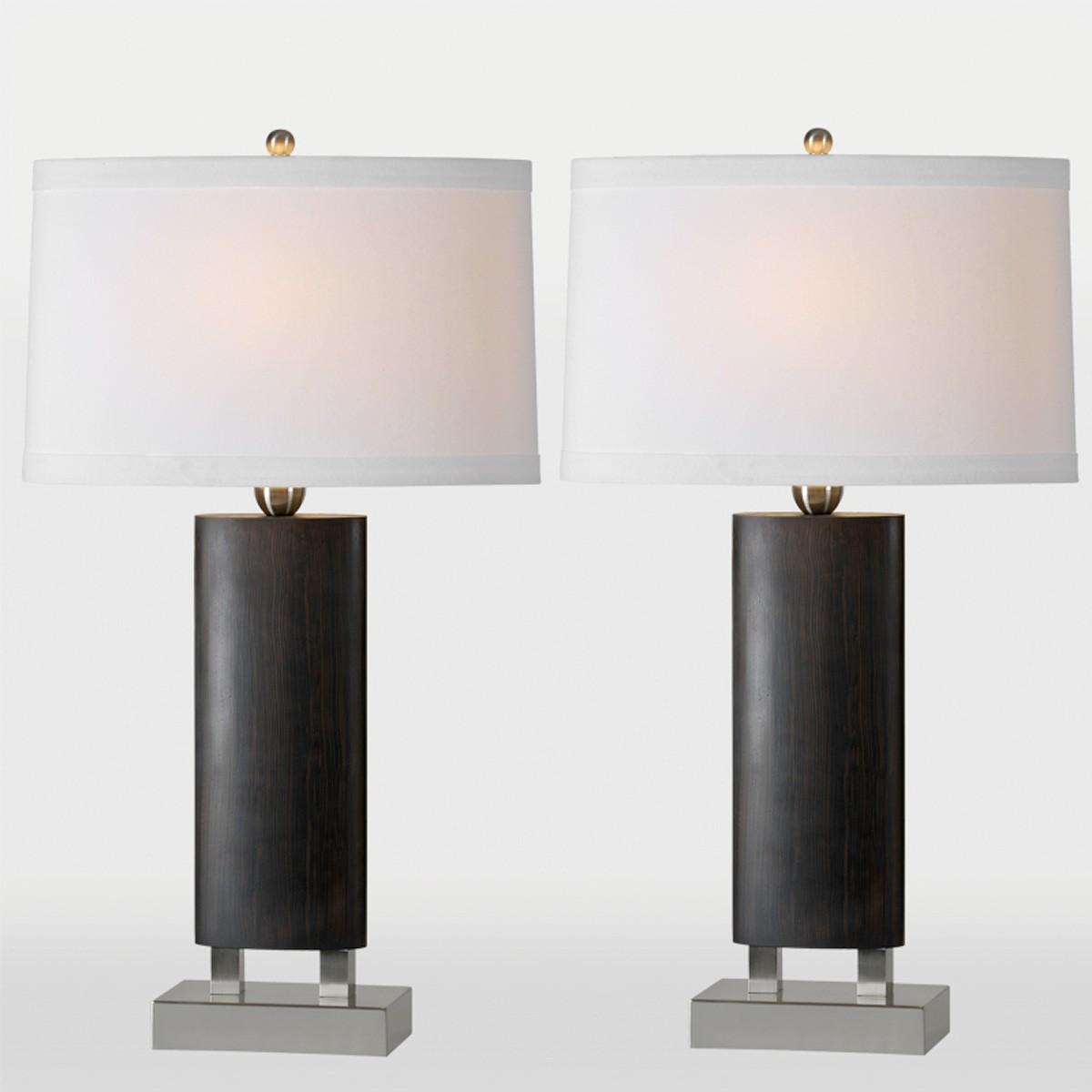 Ren-Wil Tilney Table Lamp Set - Walnut