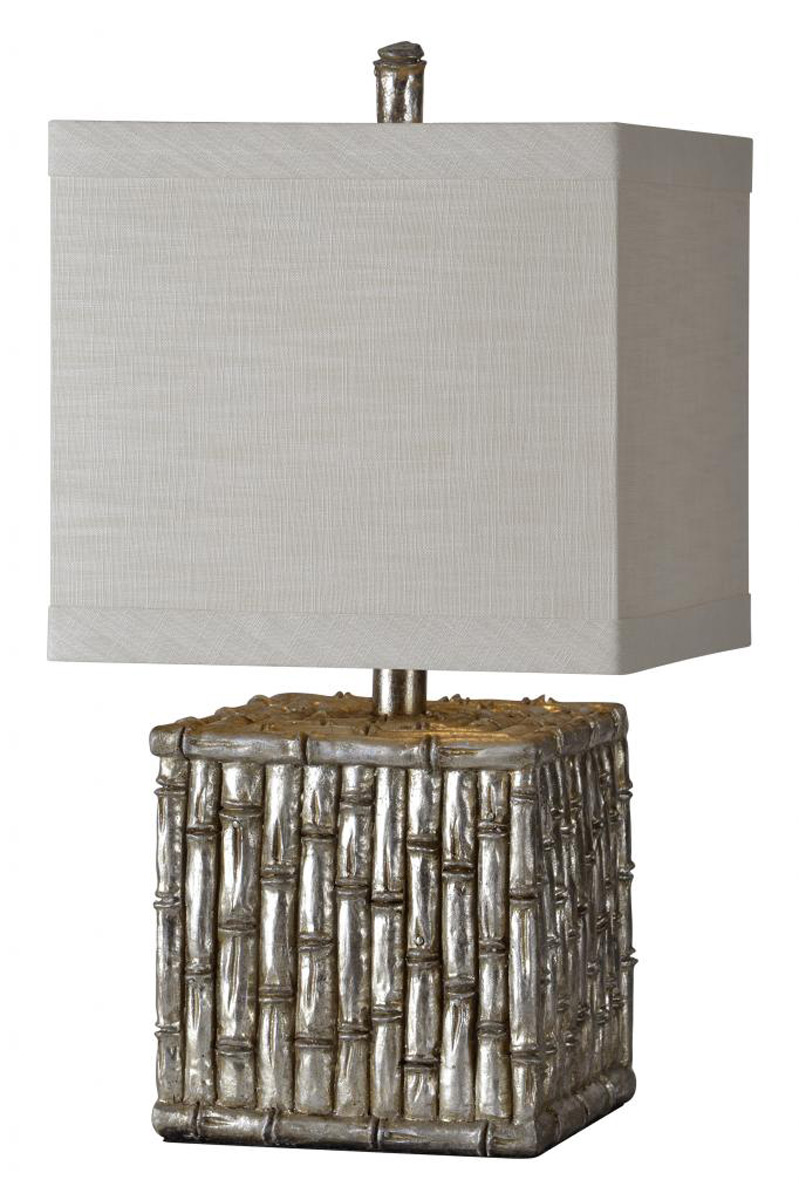 Ren-Wil Habitat Table Lamp - Silver leaf