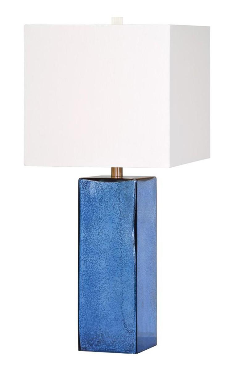 Ren-Wil Pura Table Lamp - Blue glass
