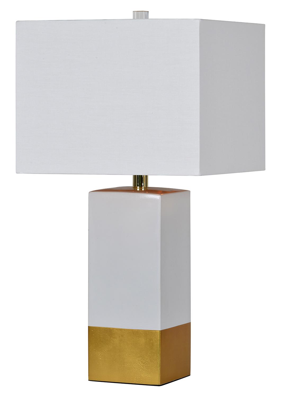 Ren-Wil Le Smoking Table Lamp - White/Gold