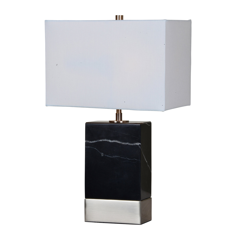 Ren-Wil Heme Table Lamp - Black/Satin Nickel