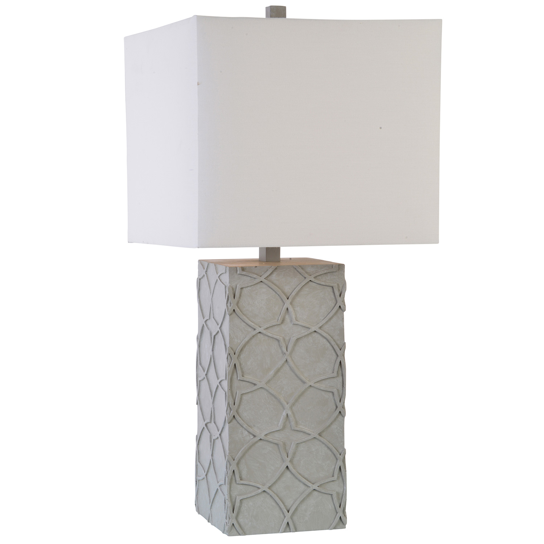 Ren-Wil Barkly Table Lamp - Concrete
