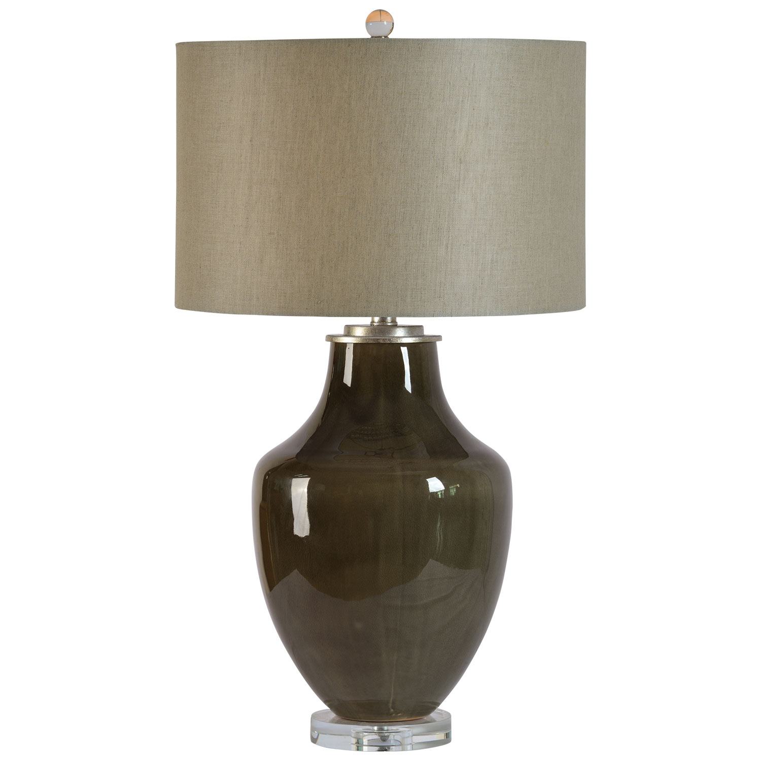 Ren-Wil Camelot Table Lamp - Grey Glossy/Clear
