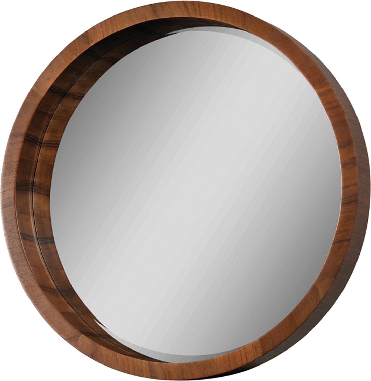 Ren Wil Round Mirror Walnut Veneer Rw Mt1006