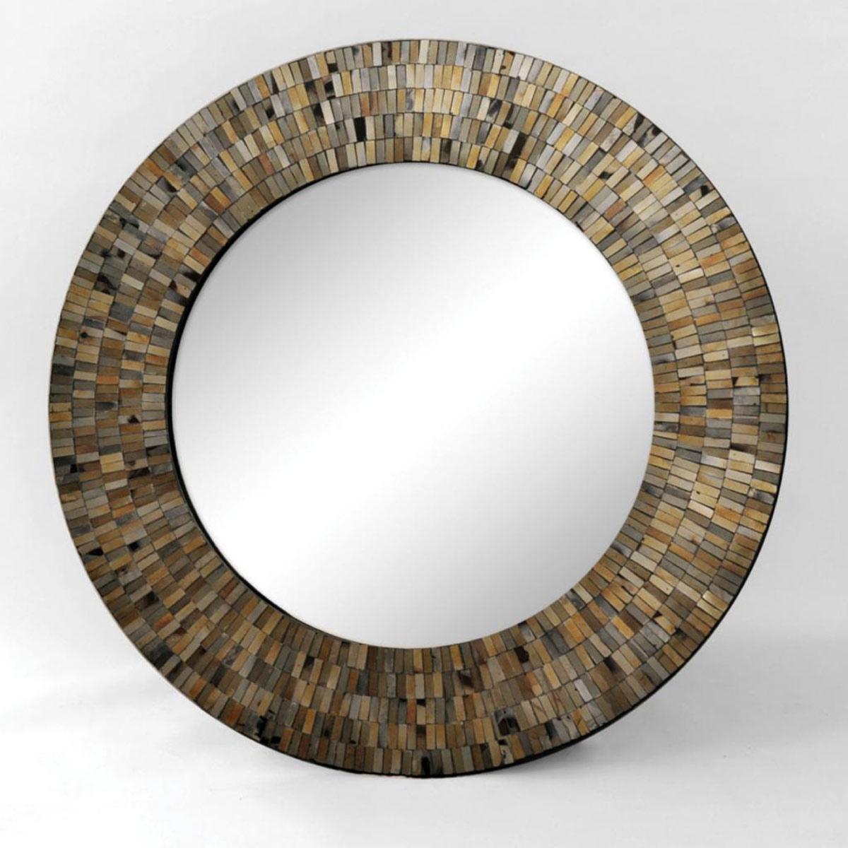 Ren-Wil Aventurine Mirror - Black Mosaic