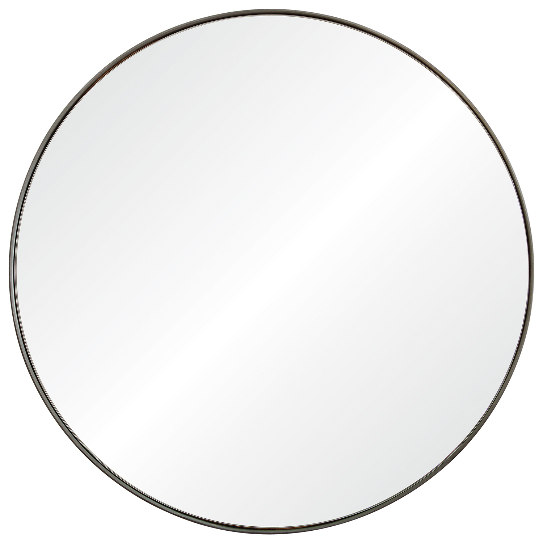Ren-Wil Lester Round Mirror - Silver Brush