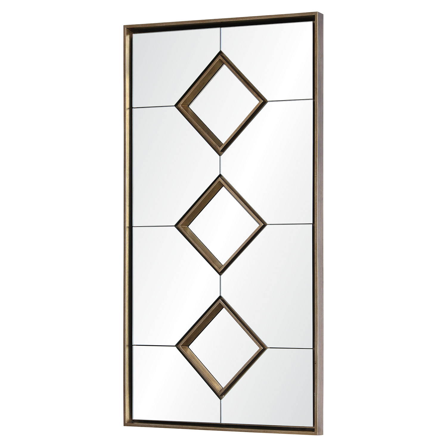 Ren-Wil Paxton Rectangular Mirror - Antique Silver