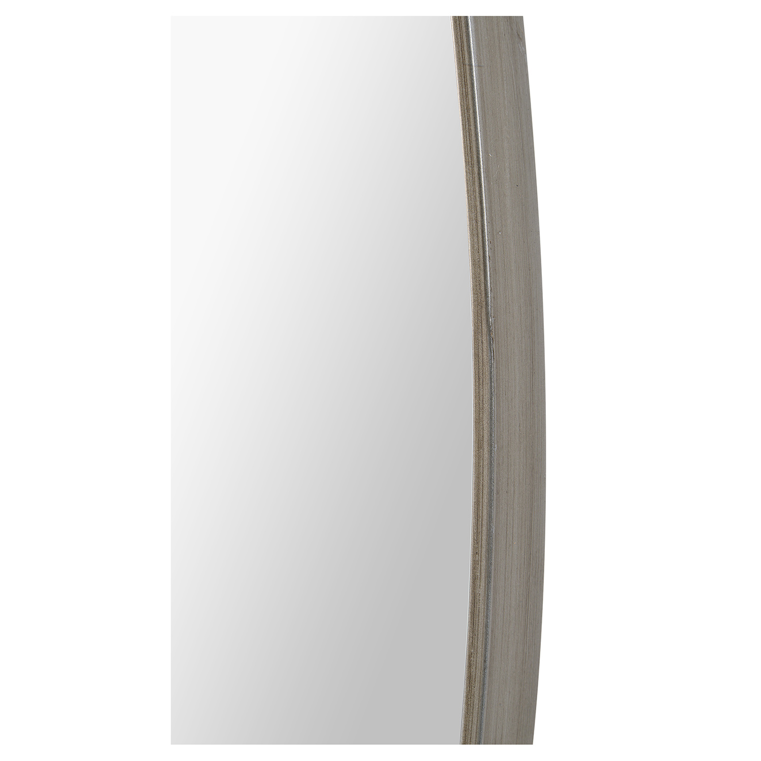 Ren-Wil Newport Oval Mirror - Antique Brushed Silver