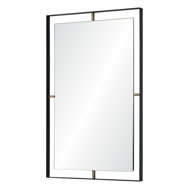 Ren-Wil Heston Rectangular Mirror - Matte Black