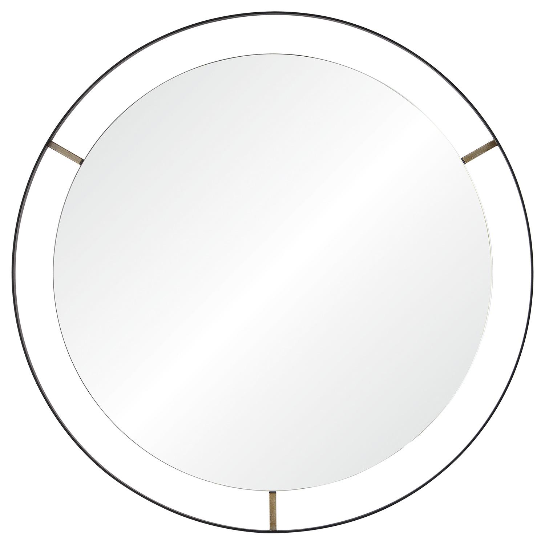 Ren-Wil Jericho Round Mirror - Matte Black