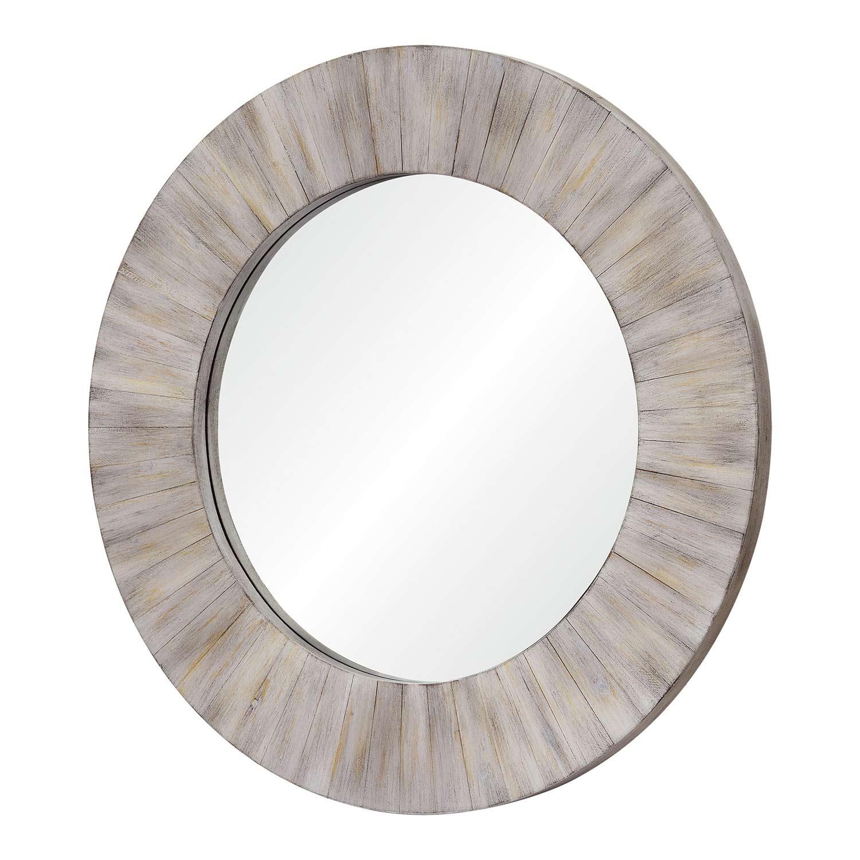 Ren-Wil Sheldon Round Mirror - Wood Finish