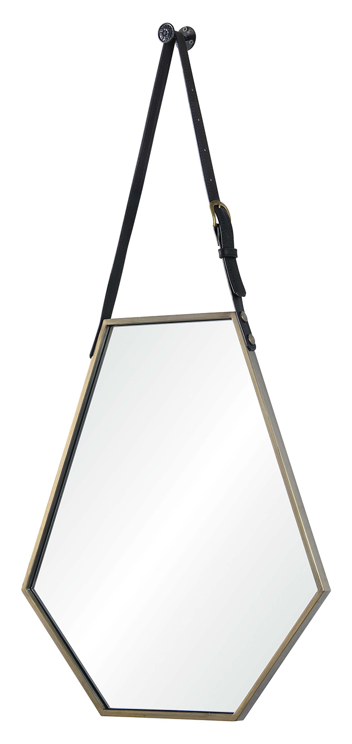 Ren-Wil Koda Hexagon Mirror - Medium Bronze Painted