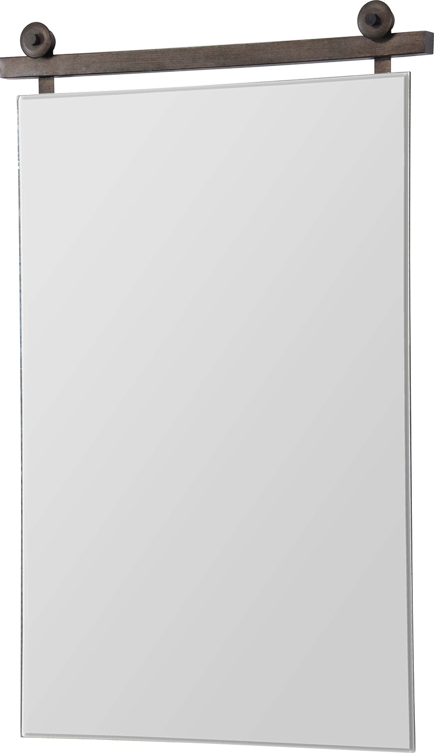 Ren-Wil Sersha Rectangular Mirror - Graphite Bronze Painted