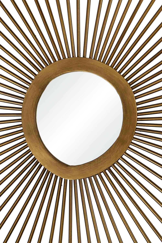 Ren-Wil Seattle Oval Mirror - Antique Brass Painted