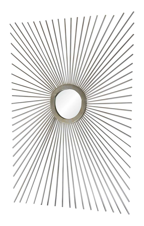 Ren-Wil Sydney Rectangular Mirror - Antique Silver Painted