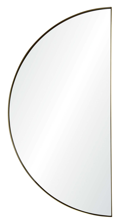 Ren-Wil Halfmoon Semicircle Mirror - Satin Brass